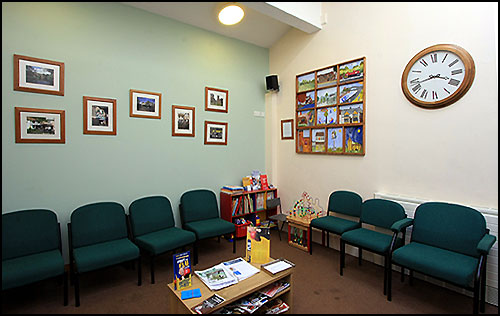 Arden Medical Centre waiting room